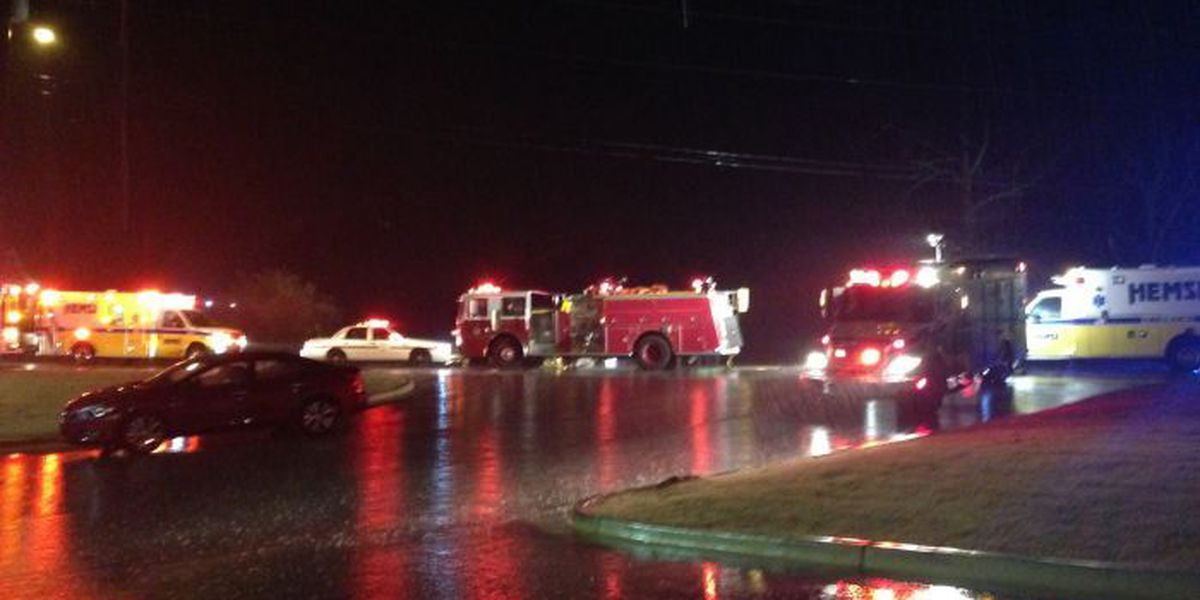 7 transported from wreck on Hwy 53/Jeff Rd.