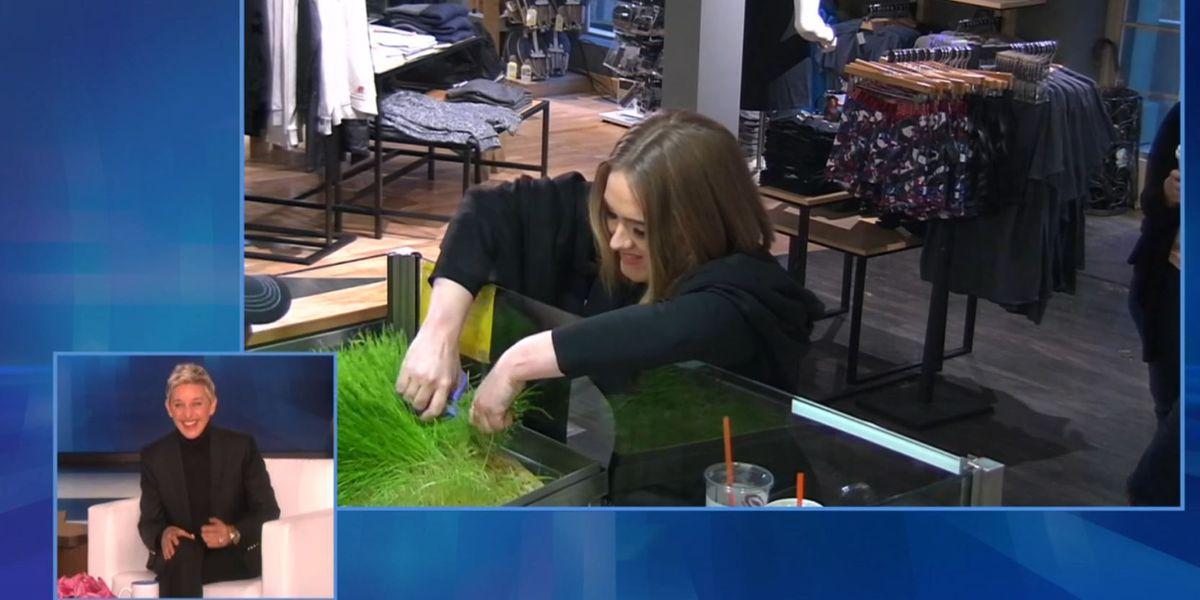 Caught on camera: Adele and Ellen's Jamba Juice prank
