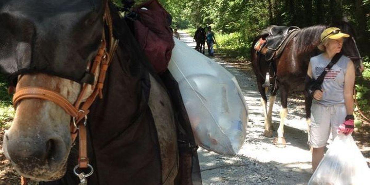 Saddle club cleans up at Wheeler Wildlife Refuge