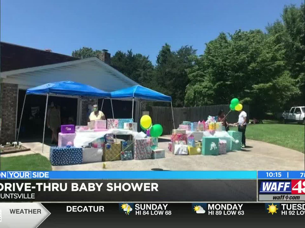 Expecting mother of triplets gets drive-thru baby shower