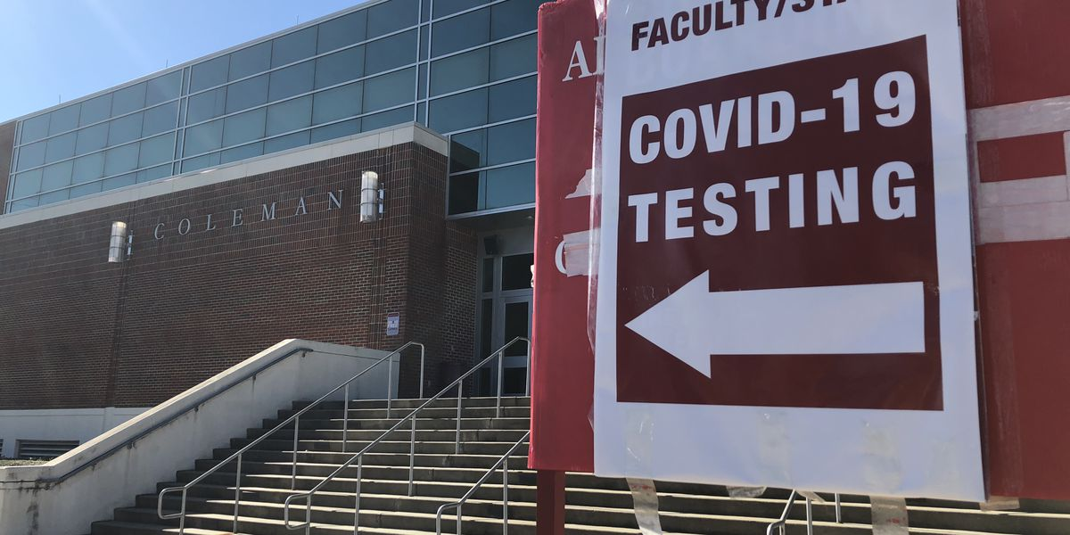 University of Alabama offers students free COVID testing before they leave for Thanksgiving
