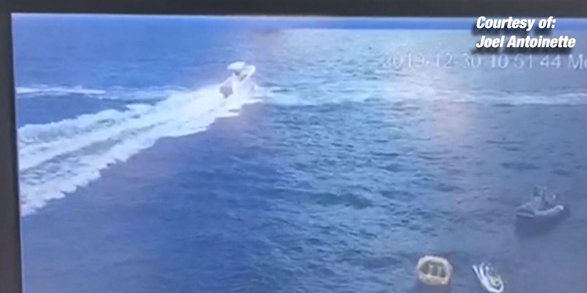 Yacht deckhand helps save Jet Ski rider after crash