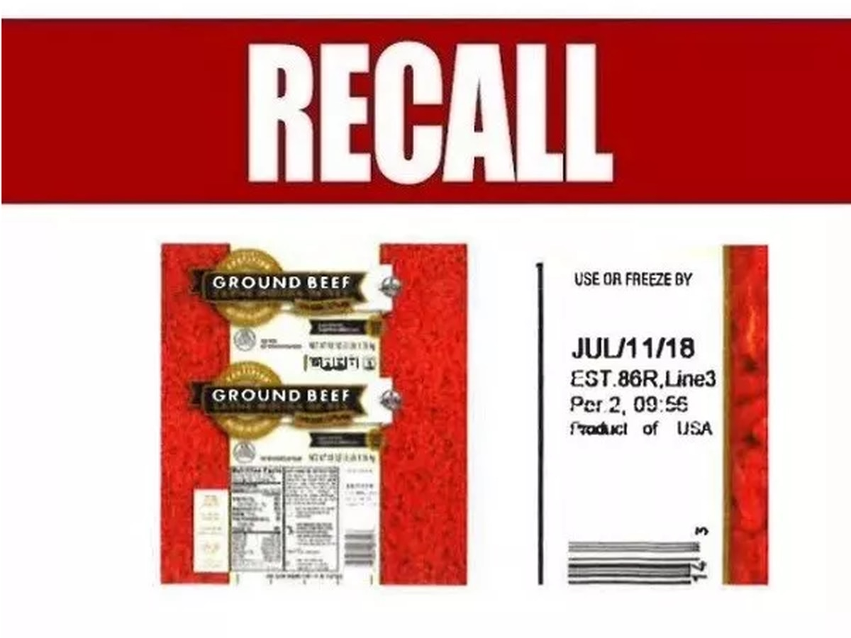 RECALL: Recall issued for ground beef products over E. coli concerns