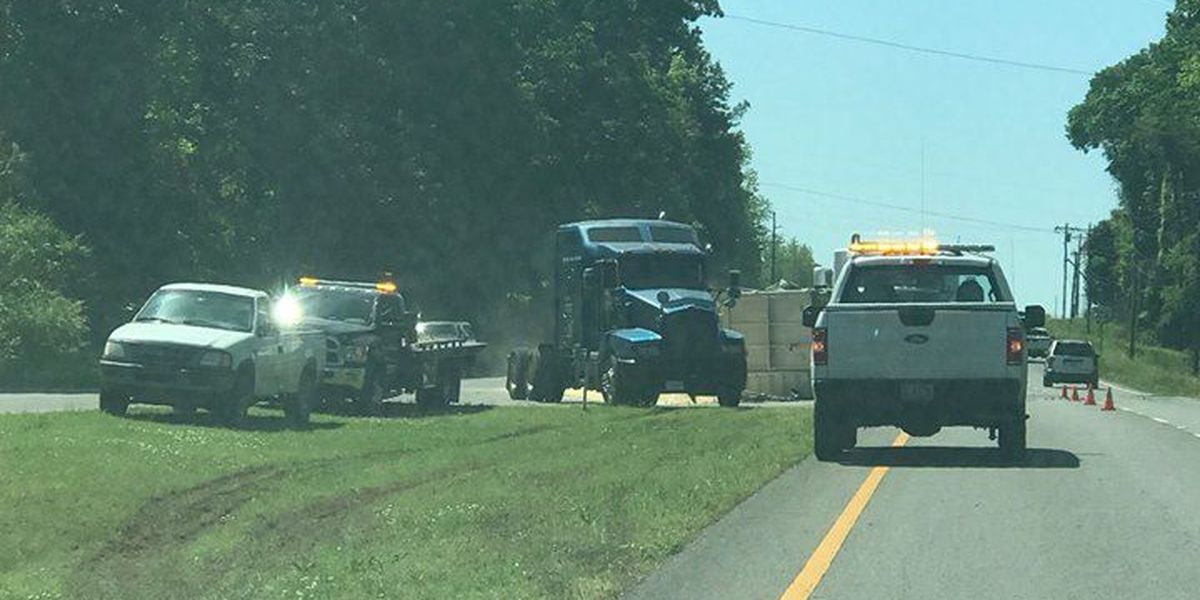 Overturned truck and trailer causing traffic delays on Highway 31