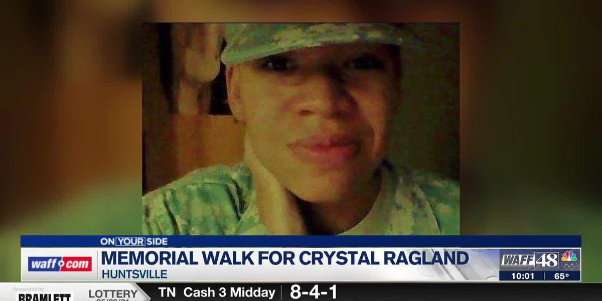 Memorial walk in remembrance of Army veteran Crystal Ragland