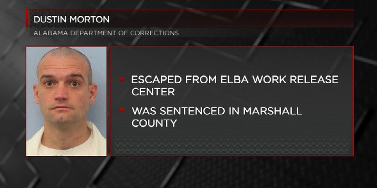 Inmate from Marshall County missing from south Alabama work release