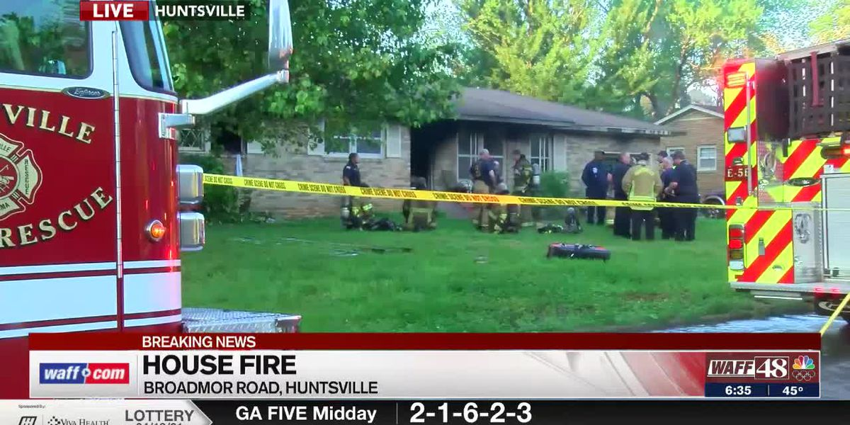 House fire on Broadmor Road in Huntsville