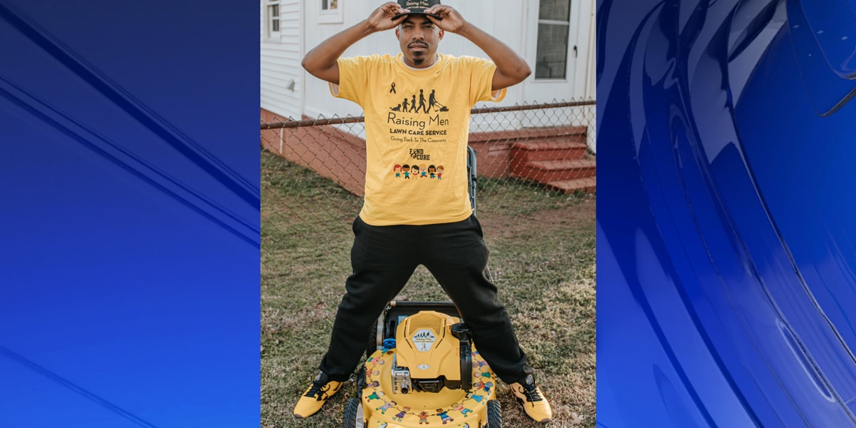 Rodney Smith Jr., Alabama's lawn mowing man, raising awareness on childhood cancer