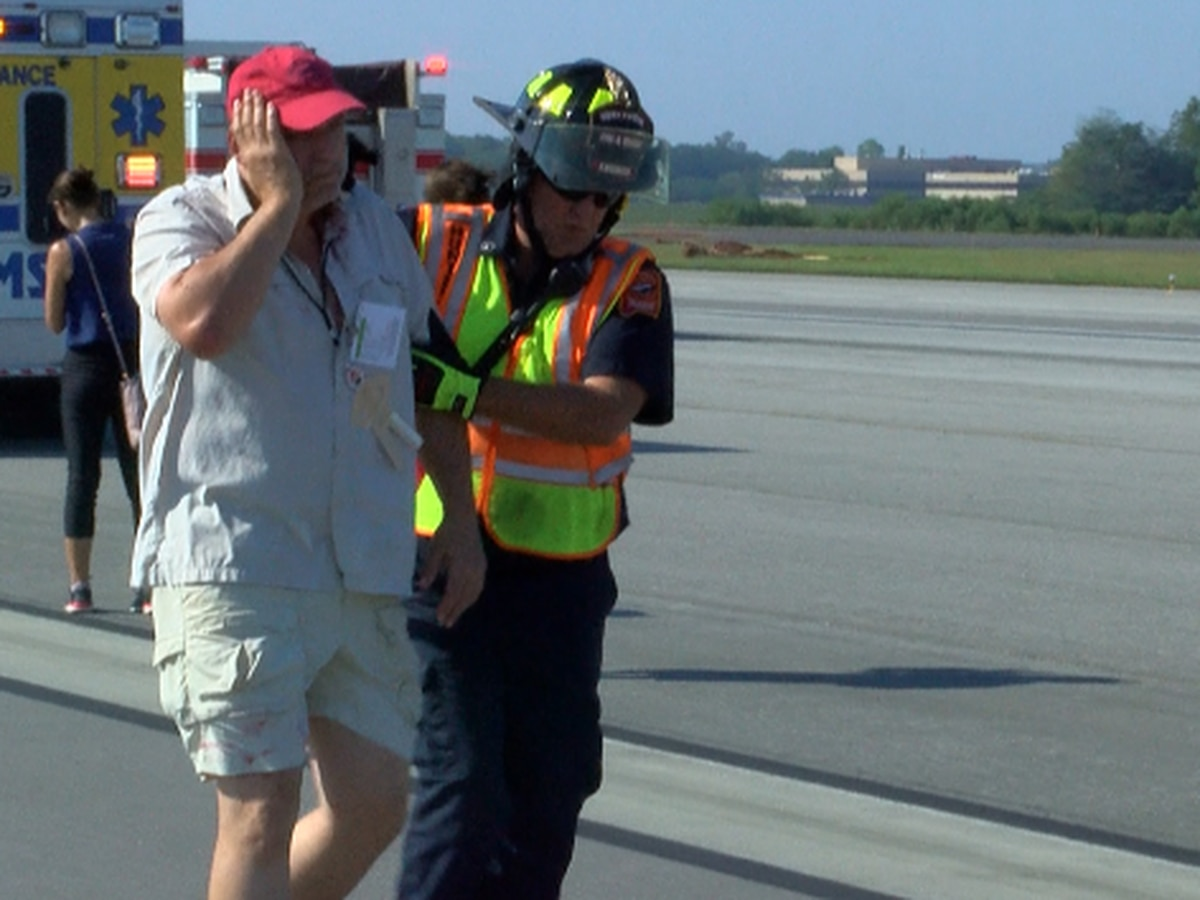 First responders work together in mass casualty simulation at Huntsville airport