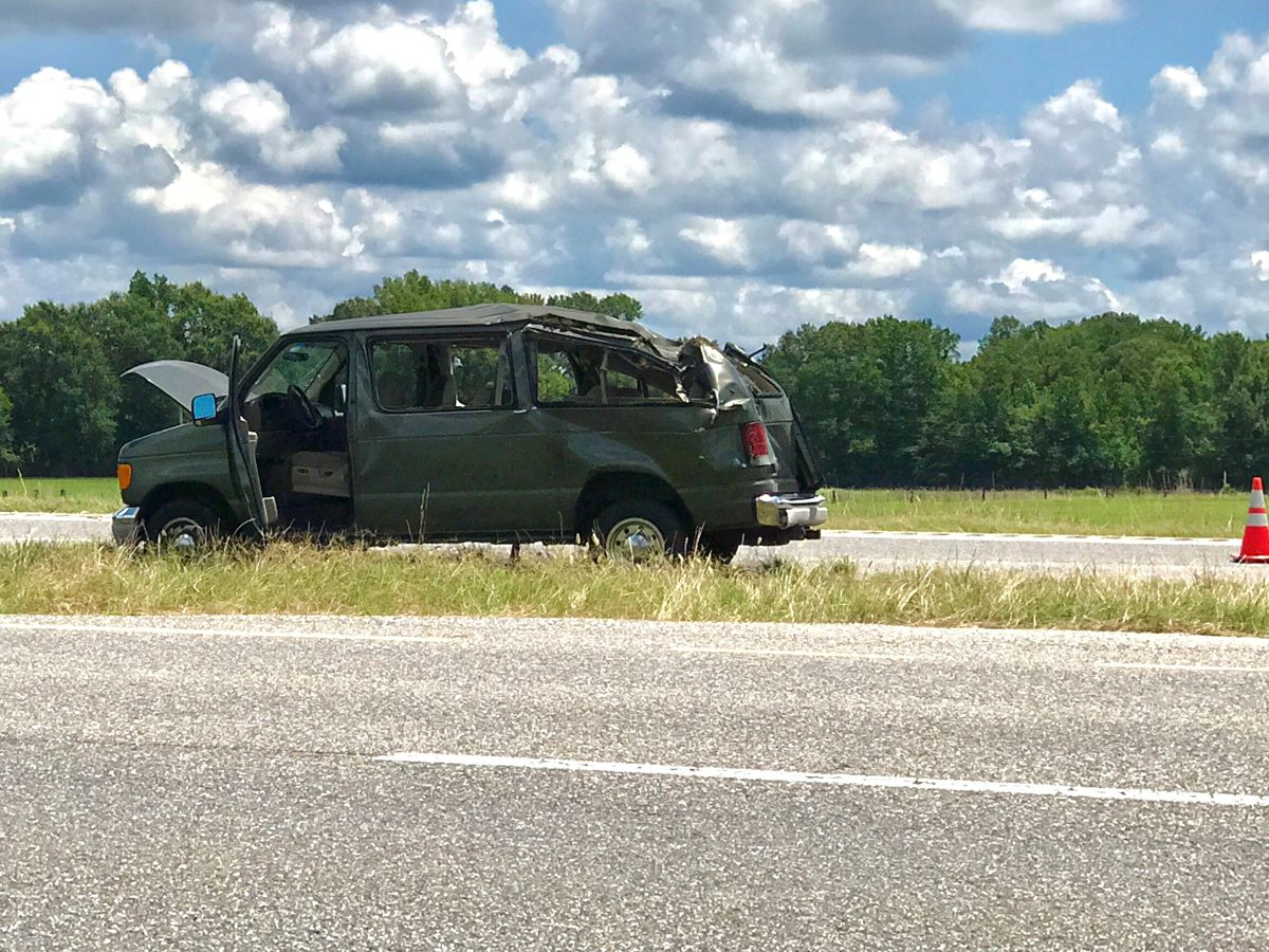 9 injured after wrestling group's van crashes near Montgomery