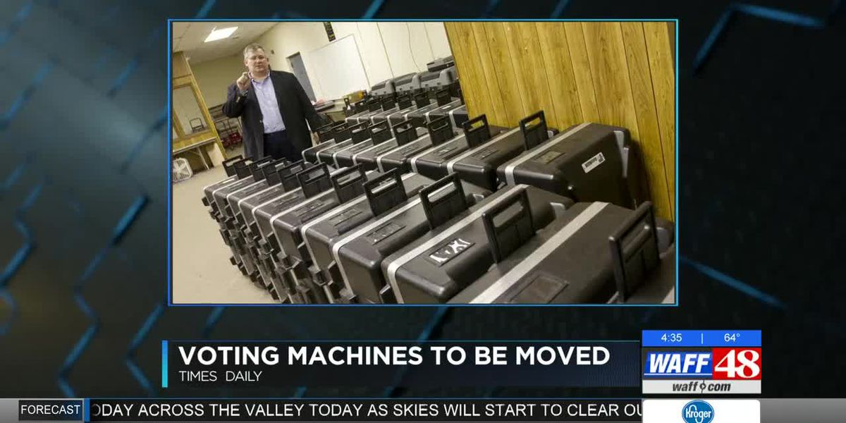 Voting machines to be moved in Colbert County