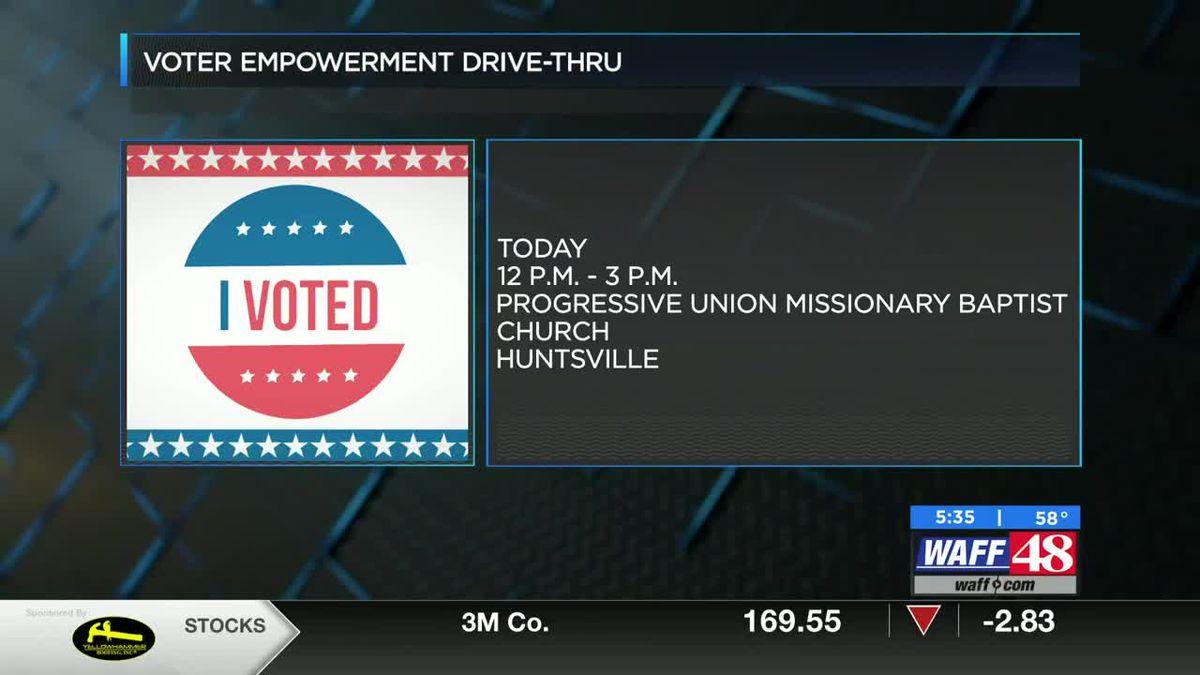 Local Huntsville church holds drive up voter registration