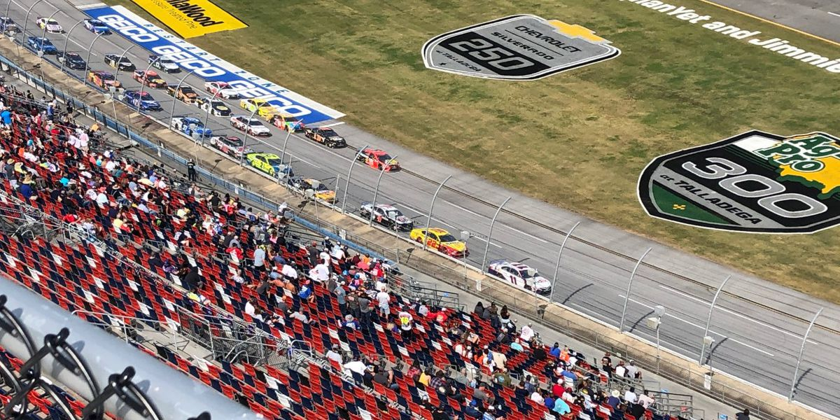 Fans enjoy socially distanced Yellawood 500 at Talladega