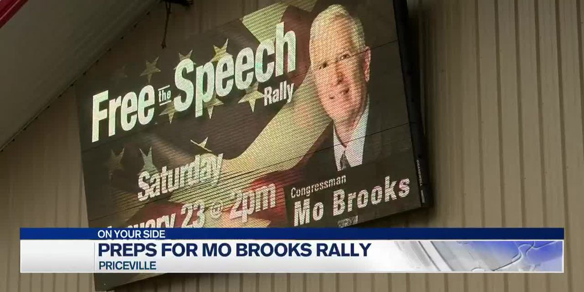 Preparation for Free Speech Mo Brooks Rally