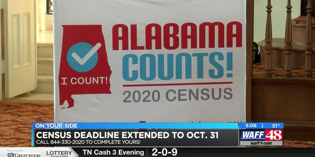 Deadline to complete Alabama census extended to October 31