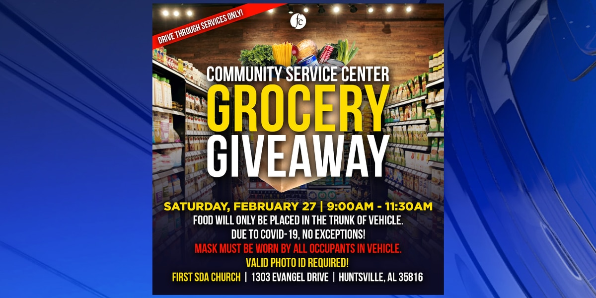 Free grocery giveaway available at First Seventh-day Adventist Church Saturday