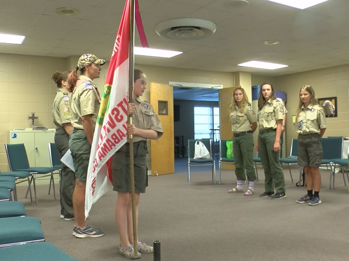 Inside look at one of Madison County's first Scouts BSA all-girls troops
