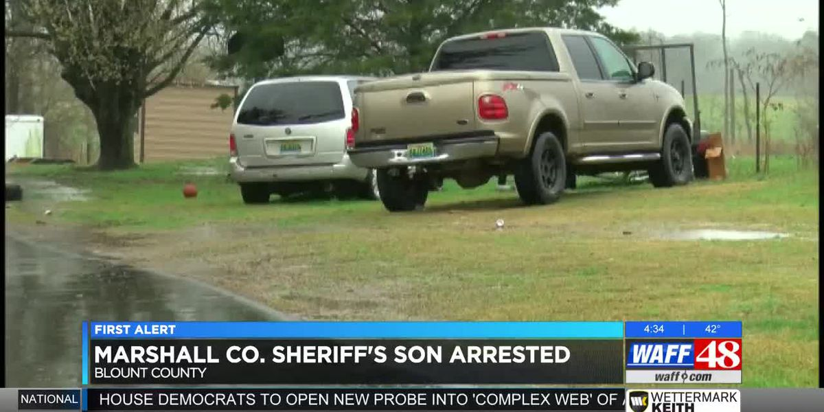 Son of Marshall County sheriff arrested