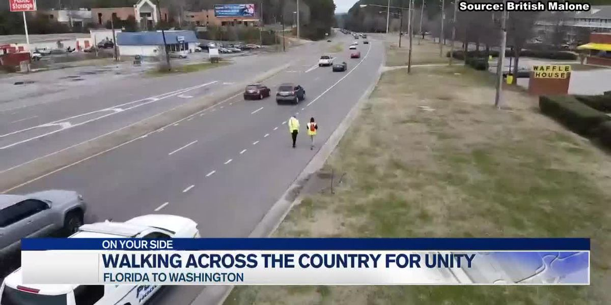 Two Alabama men are walking across the country for unity