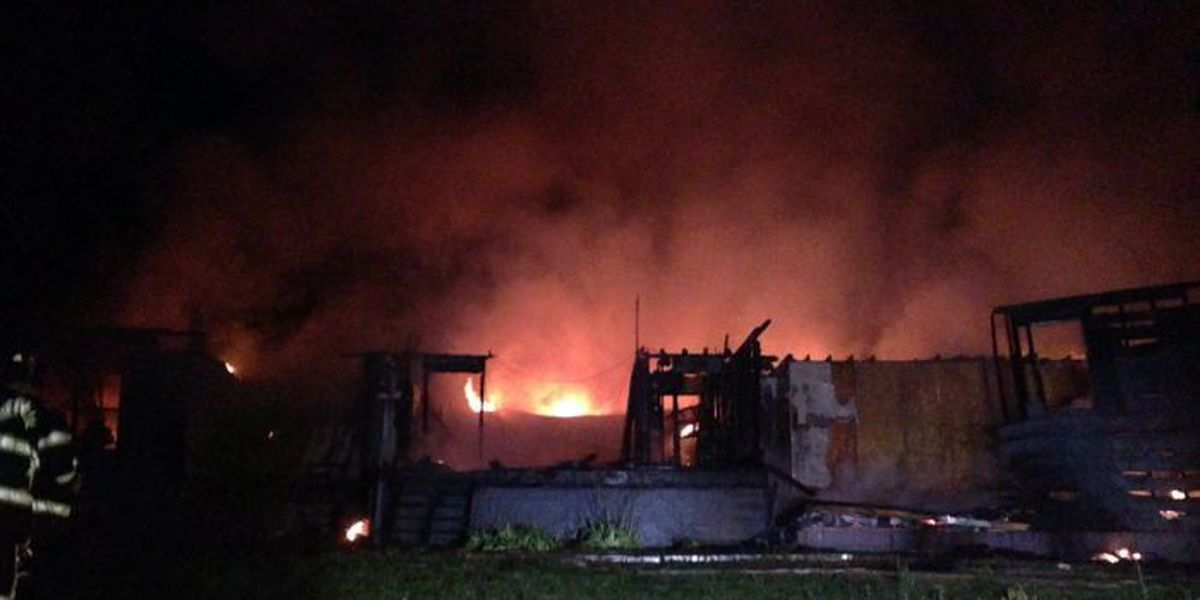 Fires destroy two homes overnight