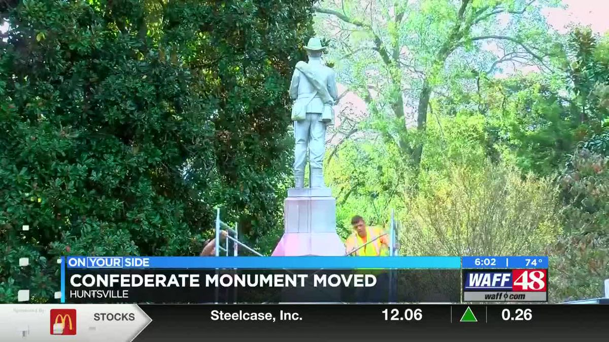 Confederate monument moved from Madison County courthouse grounds