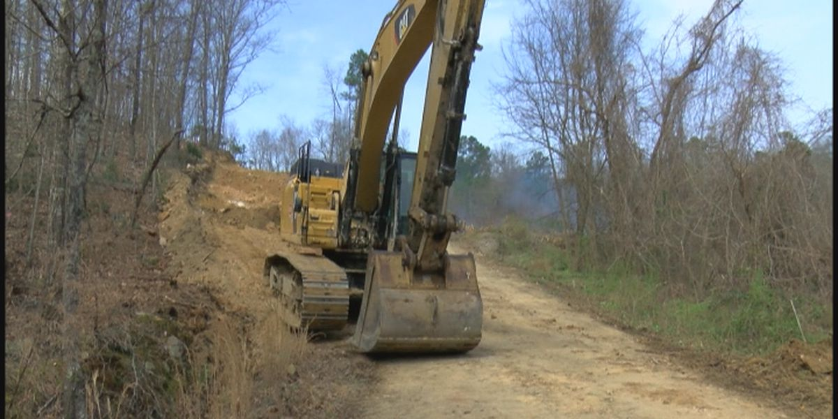 Work finally begins on Aldridge Gap Road more than 3 years after Christmas Day flood