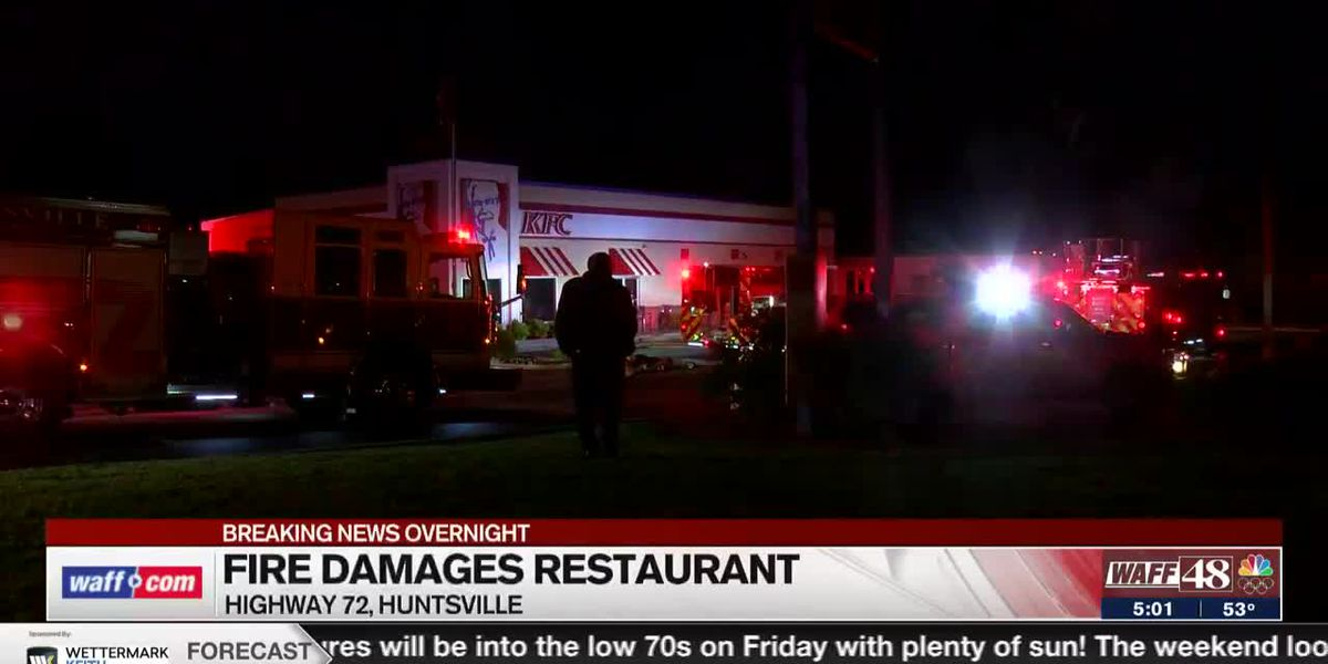 Thursday morning fire causes substantial damage to KFC on Highway 72 East