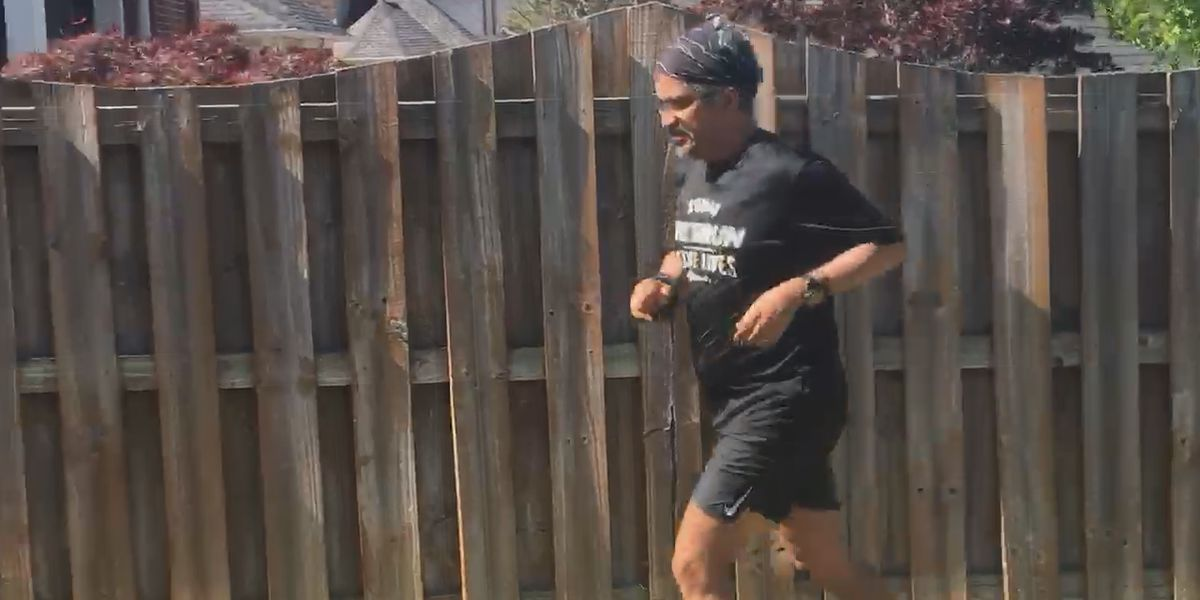 Local runner runs marathon in his backyard