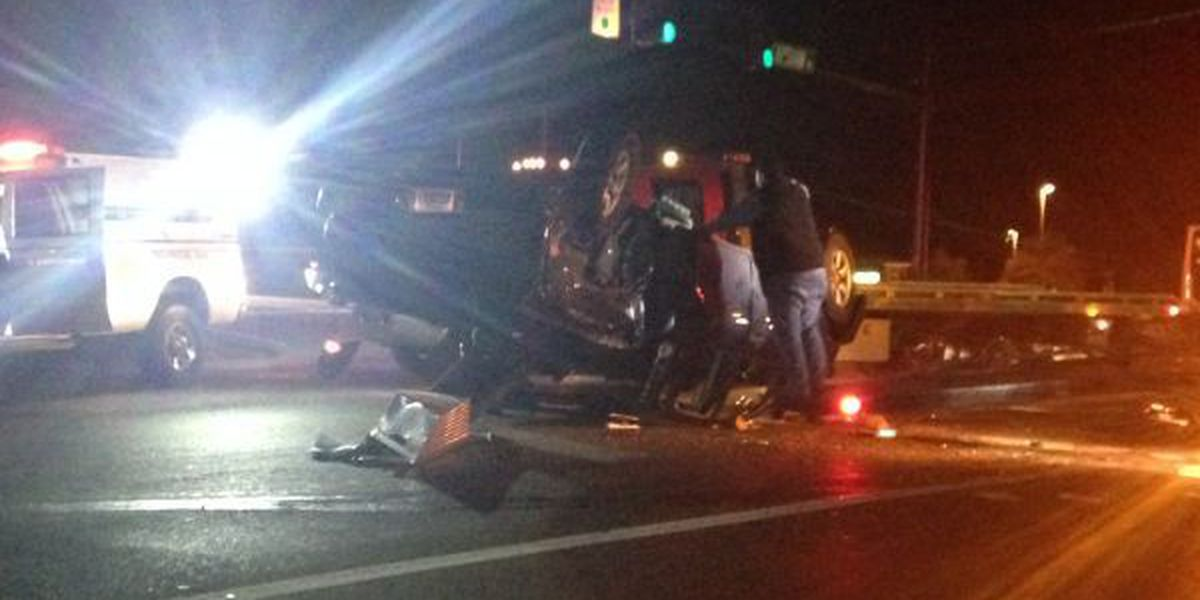 Multiple people transported to hospital after a 3 vehicle wreck