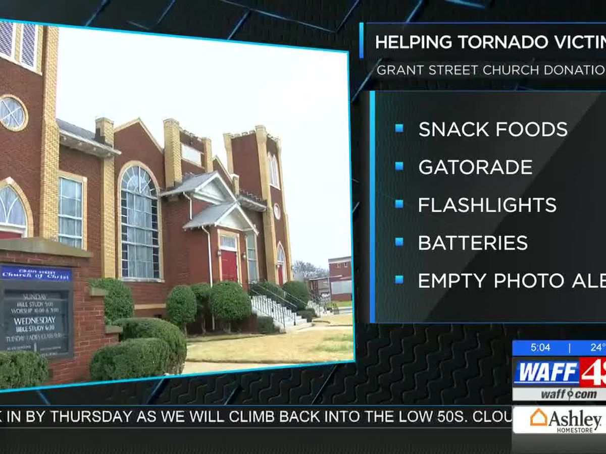 Grant Street Church in Decatur helping Lee County Tornado Victims