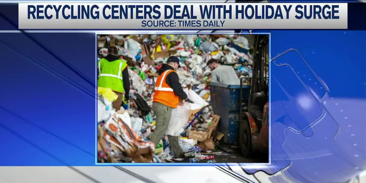 Local recycling centers post-Christmas overflow