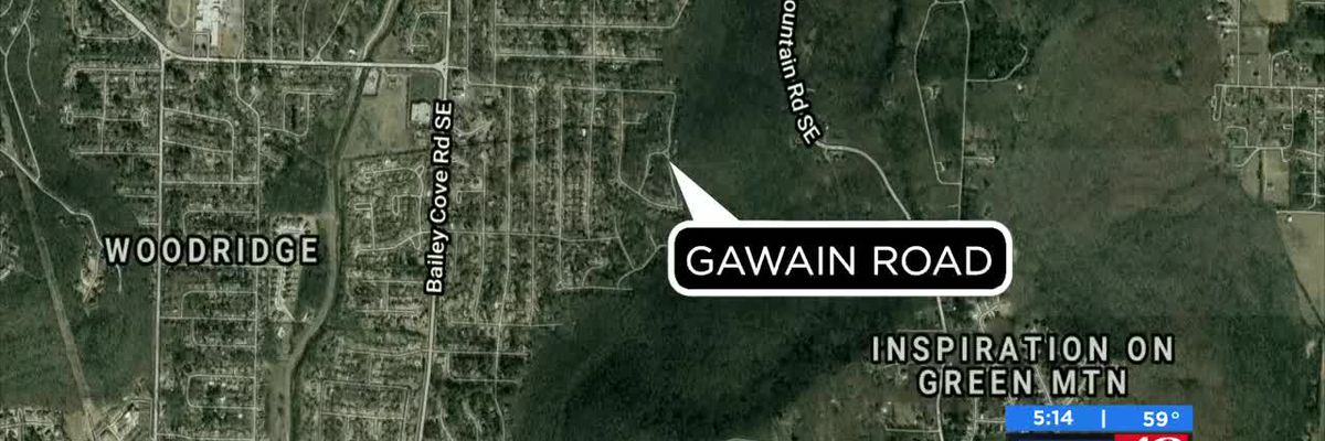 Significant police presence on Gawain Road