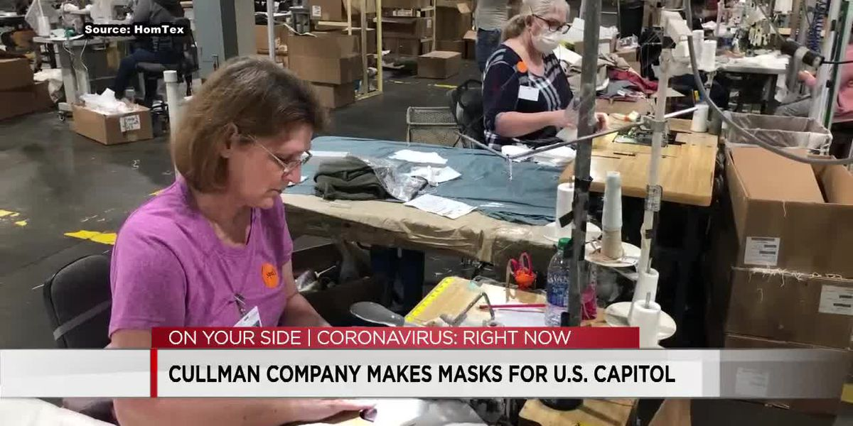Alabama company making face masks for lawmakers in United States Capitol complex