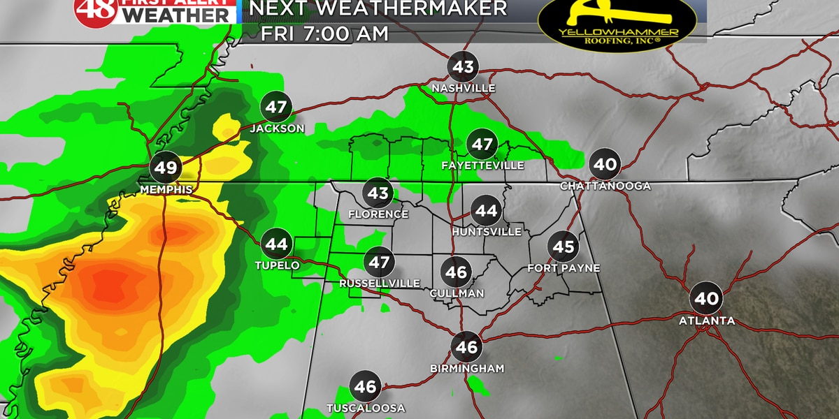 Showers moving in later this week