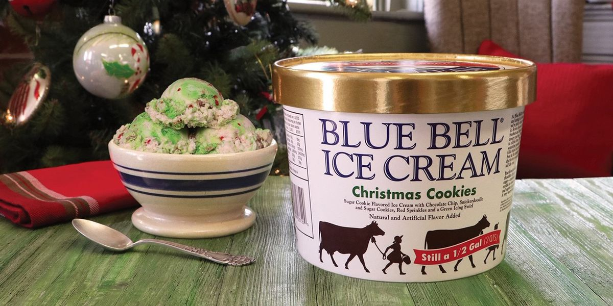 Deck the halls! Blue Bell releases Christmas Cookies Ice Cream