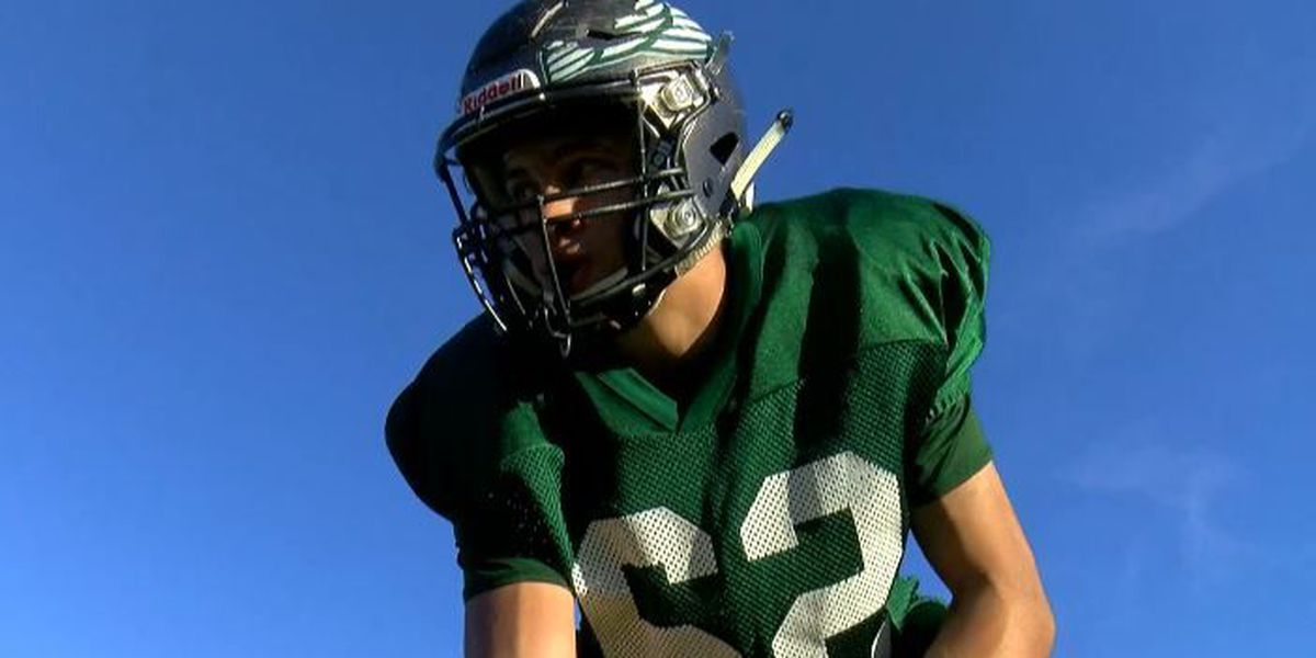 Legally blind football player inspires high school team