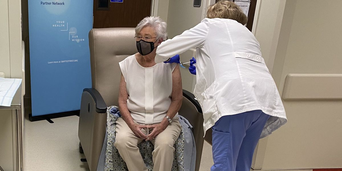 Gov. Kay Ivey, health leaders receive second COVID-19 vaccine
