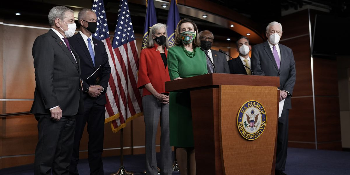 House passes $1.9T pandemic bill on near party-line vote