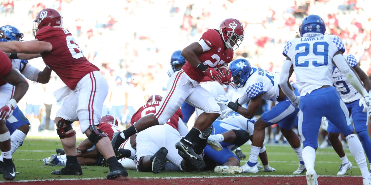 Alabama overshadows Kentucky effort in 63-3 win