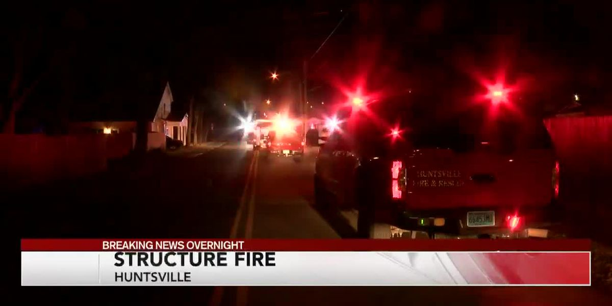Structure Fire in Huntsville Saturday morning