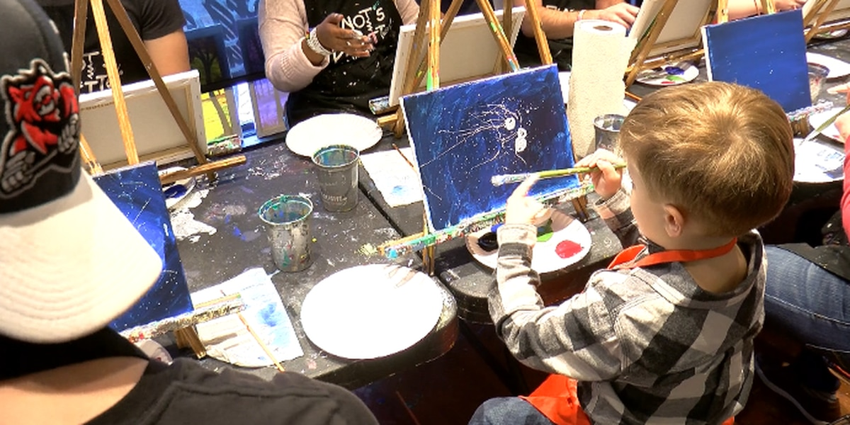 Havoc players paint with kids for good cause