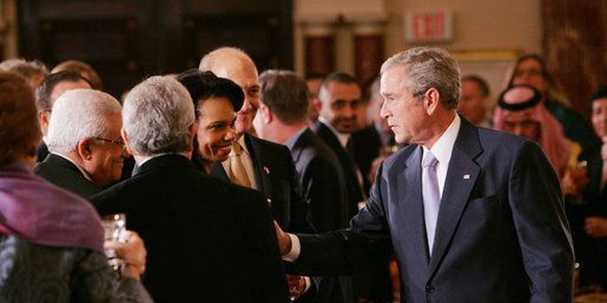 Bush says he worries about a failed Mideast process