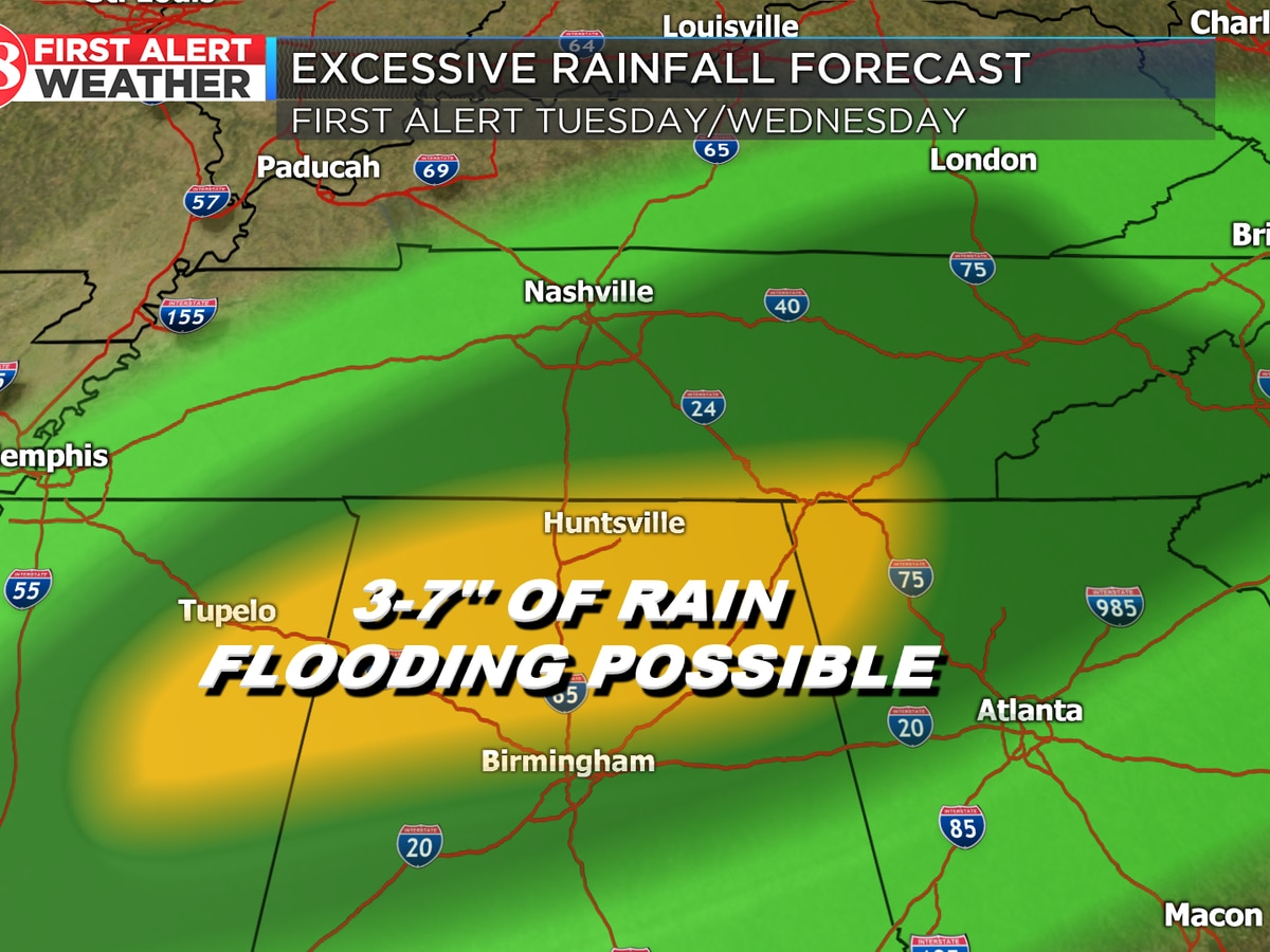 Rain chances start Friday; flood potential next week