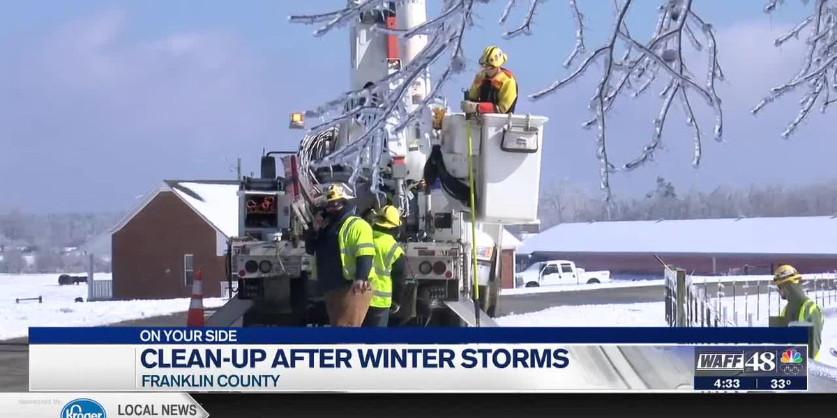 Clean up efforts underway in Franklin County after second round of winter storms