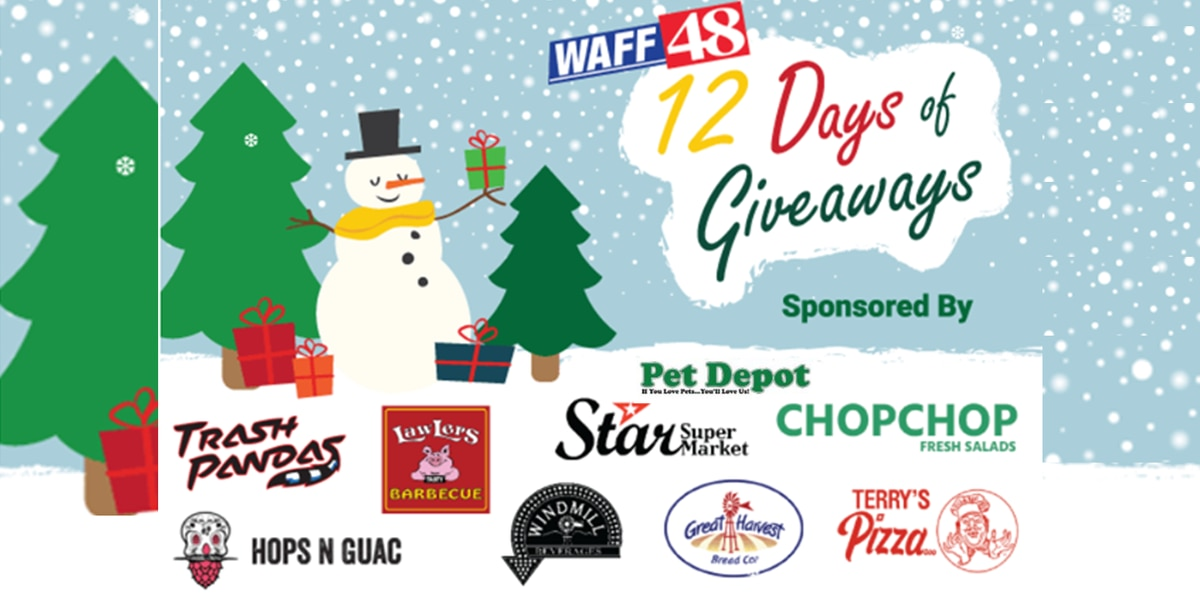 WAFF's 12 Days of Giveaways Contest