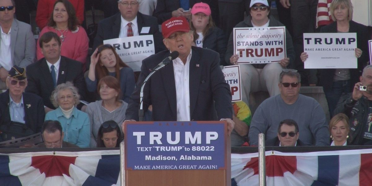 FIRST ALERT: Massive Alabama crowd supports Donald Trump