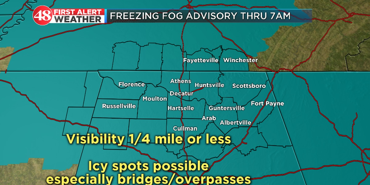 Morning Headlines: Dense fog and possible icy patches for Wednesday morning