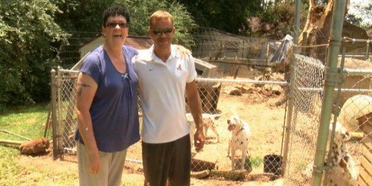Huntsville landscaper helps Scottsboro woman clean up after storms