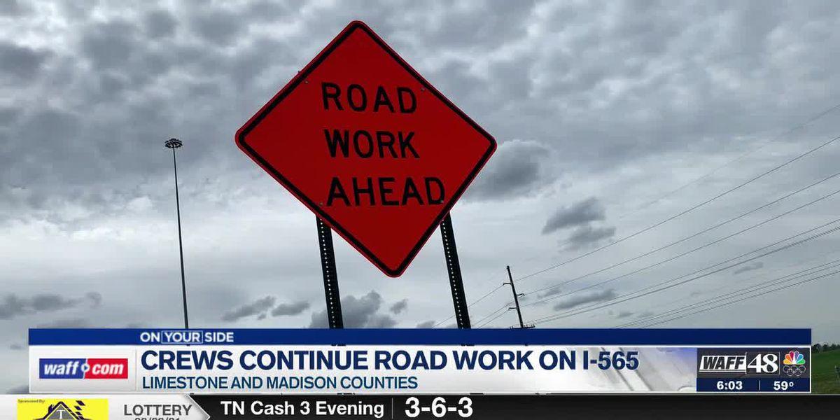 Potholes, resurfacing work causing damage to vehicles traveling on I-565