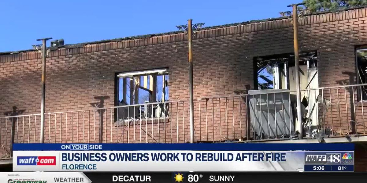 Business owners persevere after fire destroys building